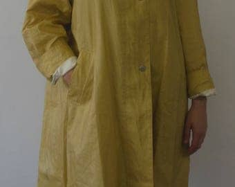 Perfect Vintage Yellow Raincoat by Vernissage Size 38 (Large)