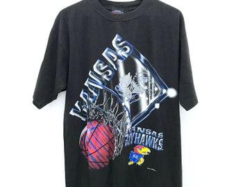 Vintage University of Kansas Jayhawks Basketball T-shirt