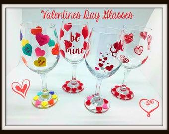 Valentines WIne Glasses