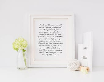 Custom Calligraphy Poem Hand Lettered Written Personalized