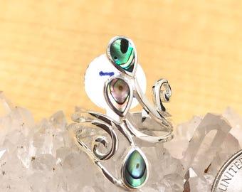 Abalone Ring Size 7 1/2