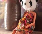 Panda animal head art dol...