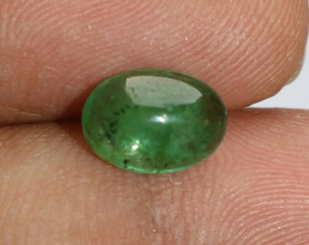 2.20 Cts Natural Green Emerald Oval Shape Cabochon