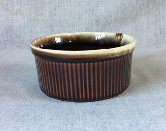 Vintage Pfaltzgraff Gourmet Brown Souffle Pan #406