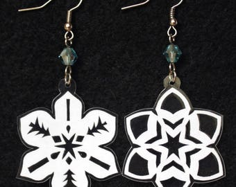 Hand-Cut Paper Snowflake Earrings Candles