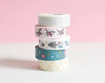 Unicorn Washi tape, iridescent washi tape, metallic gift wrap, green masking tape, holo washi tape, holo tape