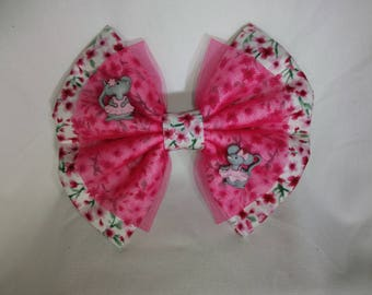Mouse and flower hair bow
