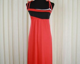 Red Sundress • Sleeveless Dress • Midi Dress • Summer Dress • Spaghetti Straps