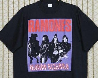 The Ramones t shirt, 1992 vintage rare tee, Mondo Bizarro, hardcore punk, punk rock t-shirt