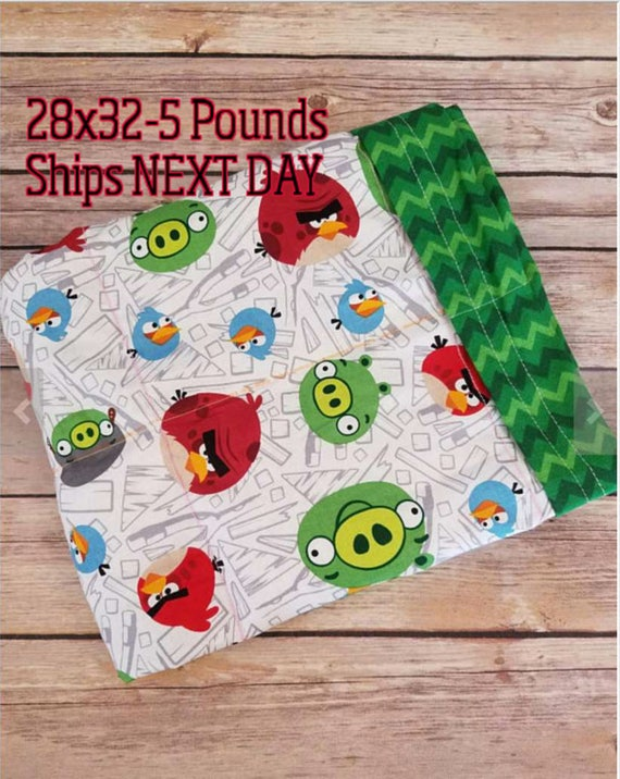 Bird, 5 Pound, WEIGHTED BLANKET, 5 pounds, 28x32, for Autism, Sensory, ADHD, Calming, Anxiety,
