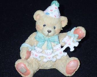 Enesco Cherished Teddies 1992 Age 4 Figurine #911305 Mint in Box