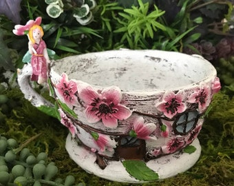 Miniature Cherry Blossom Teacup Planter