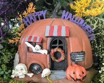 Miniature Halloween Fairy Camper / Trailer