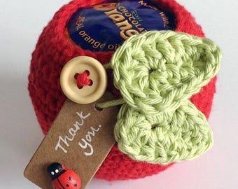 Crochet apple disguise