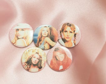 """Britney Spears 1"""" Buttons - Pack of 5"""