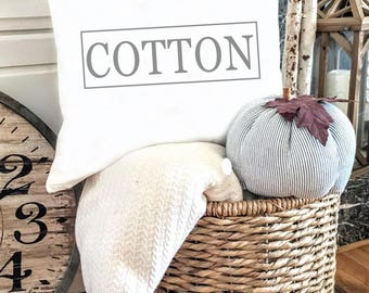 FALL Pillow Cover, COTTON pillow cover, Farmers Market Eat Local pillow cover, decorative pillow cover, Farmhouse Style, Farmhouse Decor