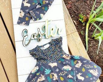 ORGANIC Dress, Easter Dress, Vintage Easter, Bunny Dress, Easter Bunny Outfit, Easter Baby Dress, Toddler Easter Dress, Twirl Dress, Newborn