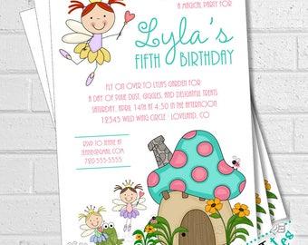 Fairy Party Invitation, Fairy Party, Fairy Garden Invitation, Fairy Tea Party, Invitation with Fairies, Pixie Party Invitation | PRINTABLE