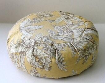 Round Zafu Meditation Cushion, Buckwheat or Kapok - Beach Flower
