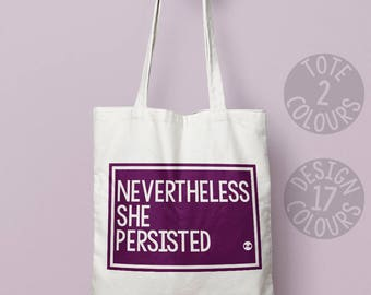 Nevertheless she persisted, feminist, personalised gift, protest, present for her, xmas present, she persisted, feminist, girl power