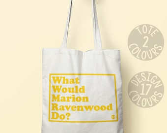 Marion Ravenwood, Indiana Jones, cotton tote bag, strong tote bag, reusable bag, 80's film, Harrison Ford, personalized gift for best friend