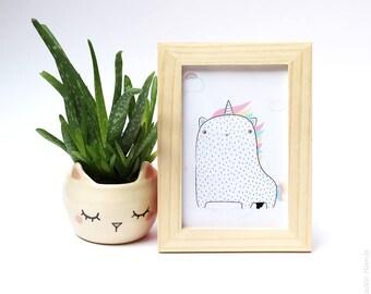 Postcard * cat Horn *.