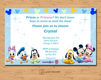 Disney Baby Shower Invitation | Printable | Customizable| Personalized | Digital Download