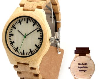 Personalized wood watch - Eryx - Engraved