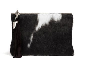Cowhide Clutch | Exact Bag you Will Receive | Made in England
