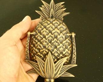 Brass Pineapple Door Knocker, Brass, Gold - medium
