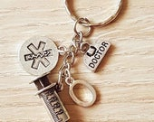 Doctor Charm Keyring Bag Charm Accessories Gift Graduation Student Medical Hospital