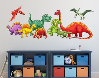Superbe Dinosaurs Wall Decal   KIds Boys Bedroom Wall Art   Cute Dinosaurs Nursery Wall  Decal