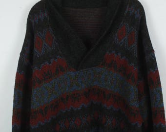 Vintage Sweater, Vintage Knit Pullover, 80s, 90s, oversized look