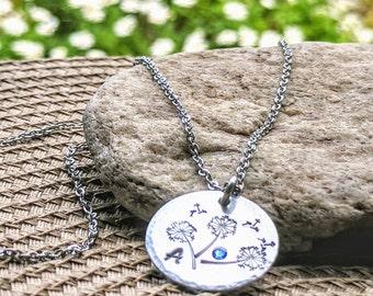 Dandelion Necklace, Dandelion Jewelry, Dandelion Jewellery, Dandelion Gifts, Dandelion Flower, Dandelion Charm, Dandelion, Aluminum Charm