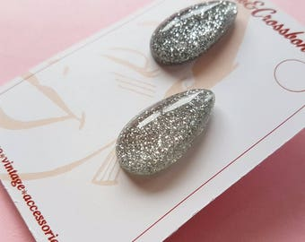 Lisa Marie teardrop earrings - Silver
