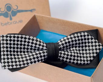 Checked Bow Tie, Bow Ties, Mens Bowties, Wedding bow tie, bow tie for men, Christmas Gift, mens tie