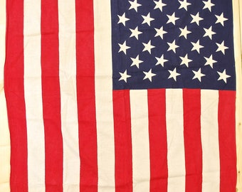 1950's/60's Vintage Stars and Stripes Flag / 50 States / Retro Collectable Rare