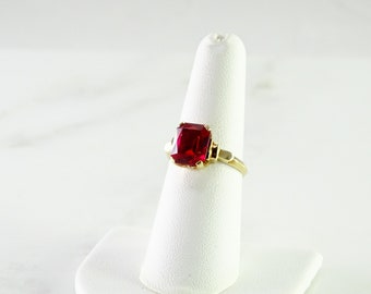 10 K Gold Ruby Ring Size 7