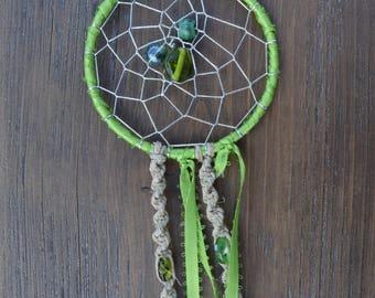 Green Beaded Dreamcatcher