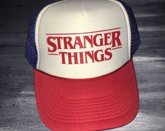 Stranger Things Hat Dustin's Hat Netflix and Chill Hawkins Eleven Upside down Trucker Hat Netflix Stranger Things Gift Netflix Accessories