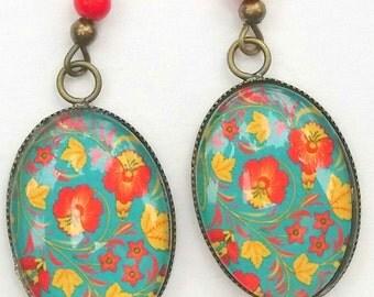 Bronze flower Stud Earrings!