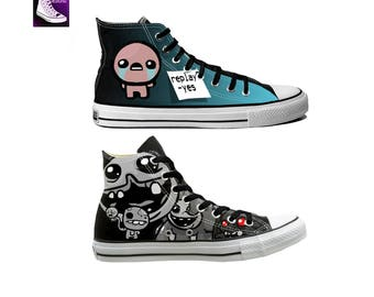 Binding Of Isaac Hand Painted Canvas Converse
