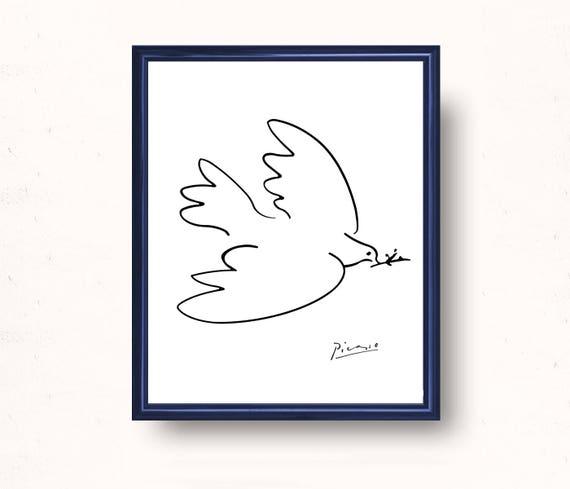 Picasso Friedenstaube Druck PicassoSkizzen sofortigen