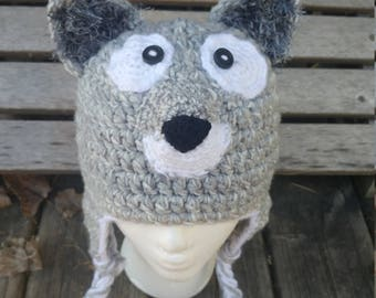 Crochet Dire Wolf Hat