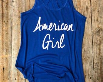 American Girl - Womens Flowy Tank