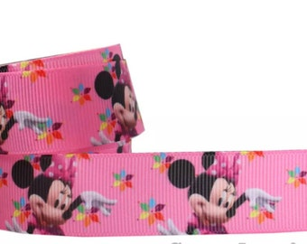 """1"""" Minnie Mouse Grosgrain Ribbon by the Yard   W72"""