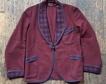 1920s wool smoking jacket - Thompson & Flumerfelt