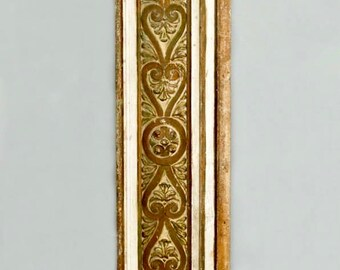 French Gilded Hand Carved Architectural Element Wall Panel c.1900  [3873]