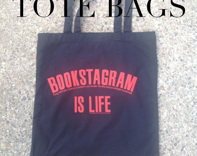 book lover Tote Bag - Bookstagram is Life - cotton tote - book bag - nameless city apparel - bibliophile bag - shopping bag - printed tote
