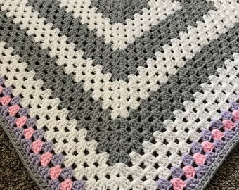 Crochet Pattern - INSTANT PDF DOWNLOAD - Pattern Only - Crochet - Baby Blanket - Granny Square - Crochet Pattern - Baby Blanket Pattern